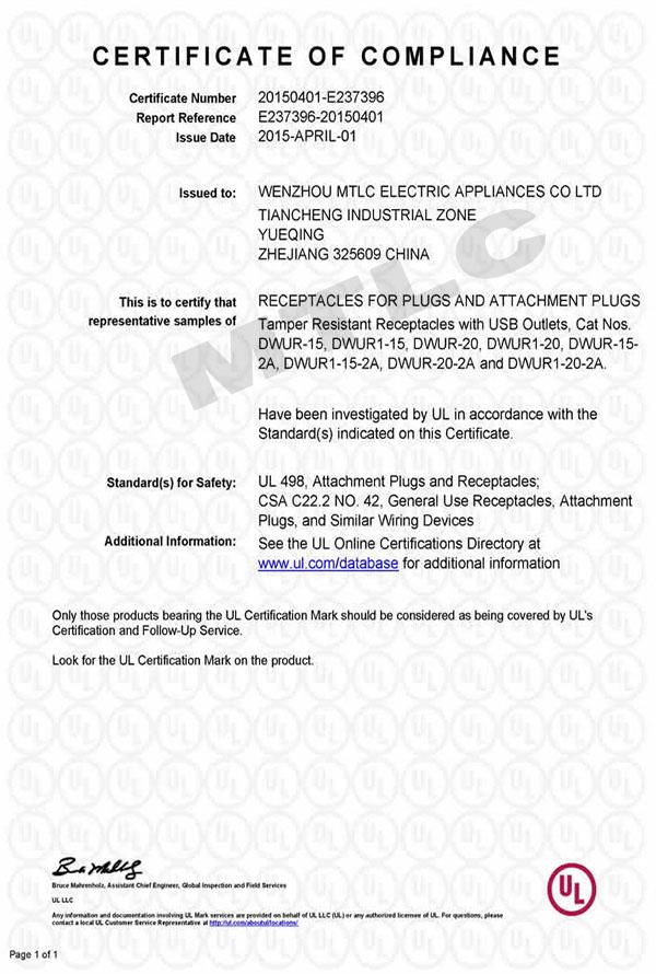 Wenzhou Mtlc Electric Appliances Coltd